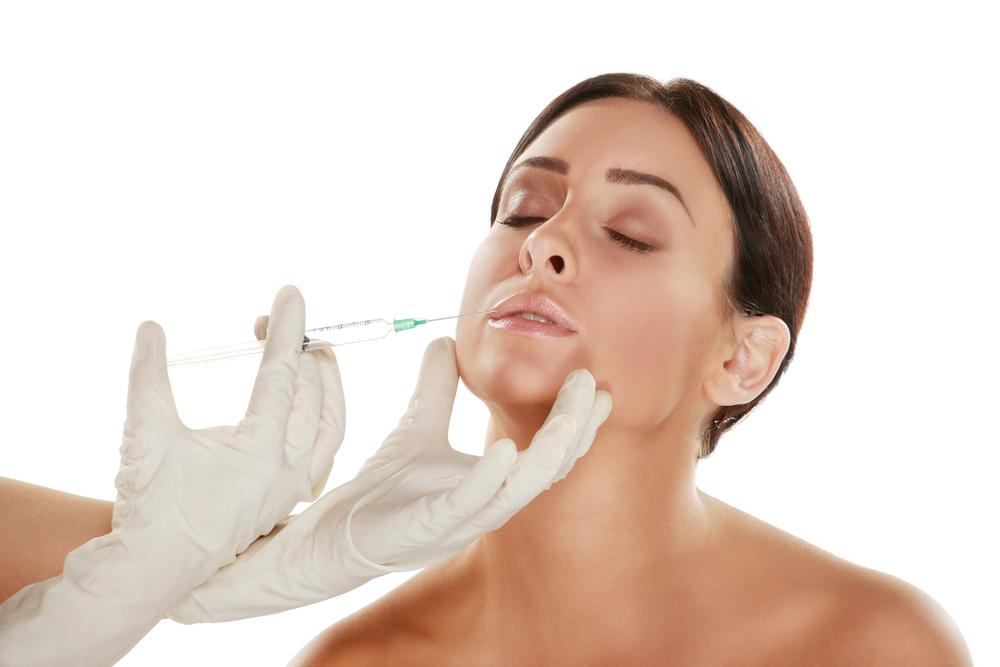 kvinde får botox